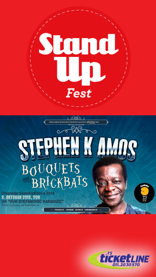 "StandUpFest 2018.STEPHEN K AMOS  ""Bouquets and Brickbats"""